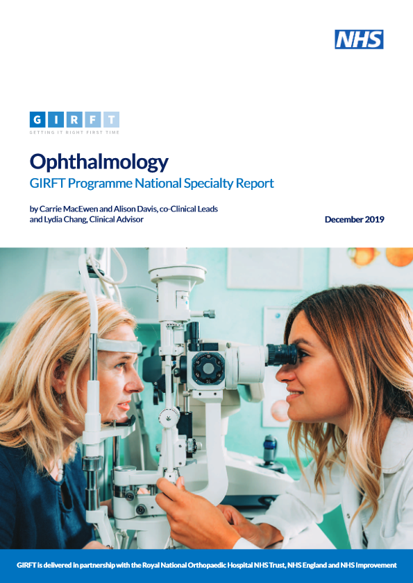 Ophthalmology national report front cover