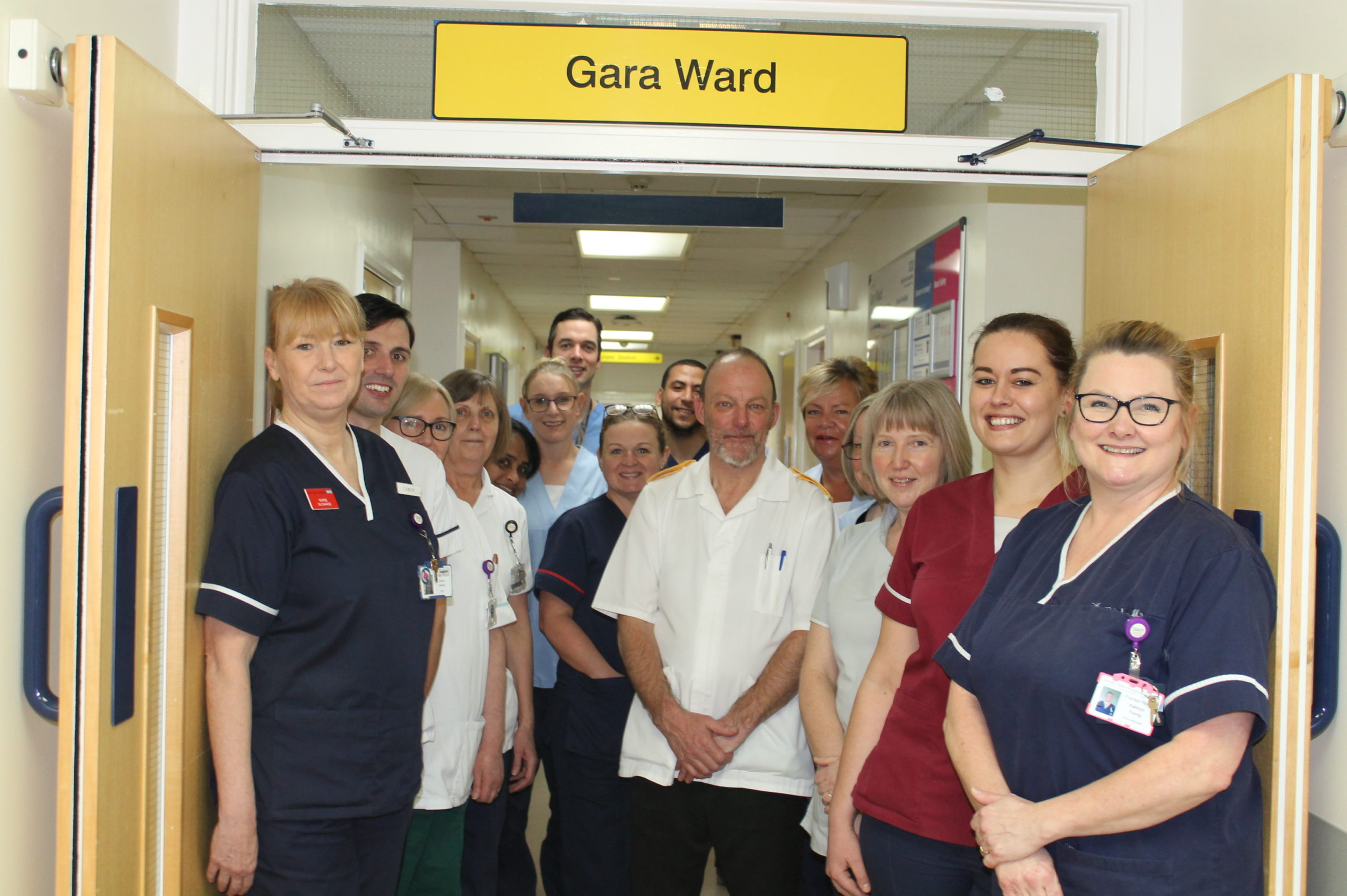 Gara elective orthopaedic ward staff at the Friarage Hospital