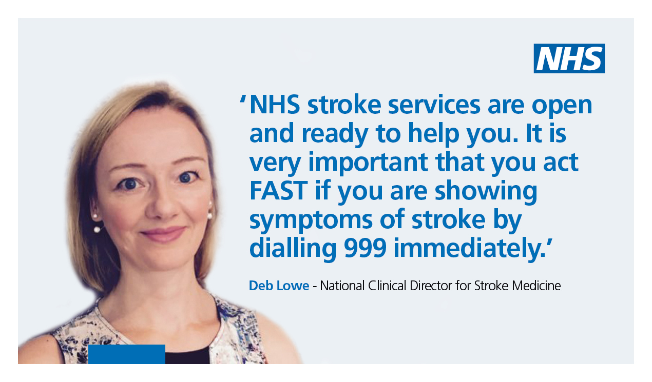 Dr Deb Low urges people to dial 999 if they suspect a stroke
